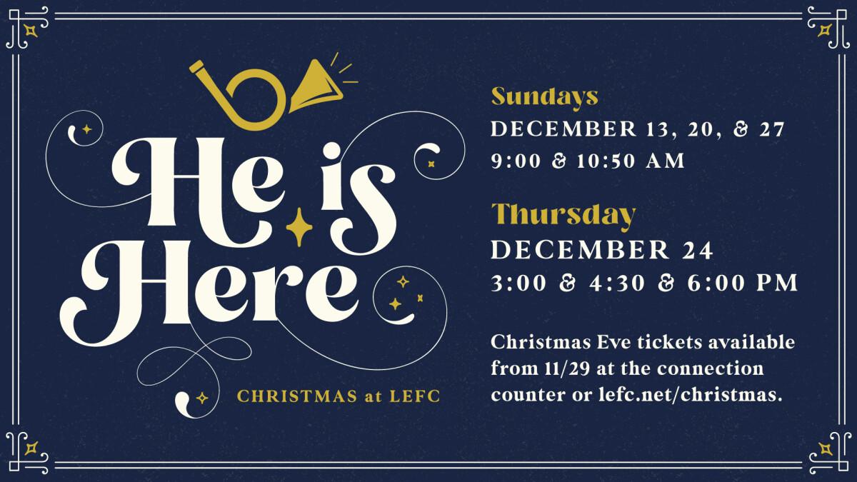 Christmas at LEFC