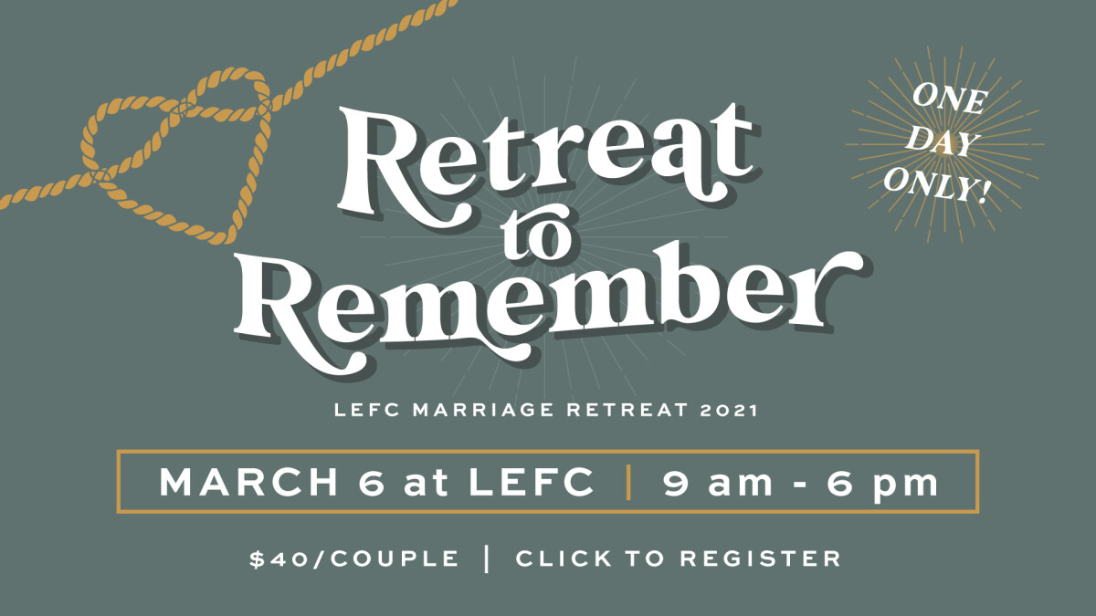 Marriage Retreat 2021 Registration