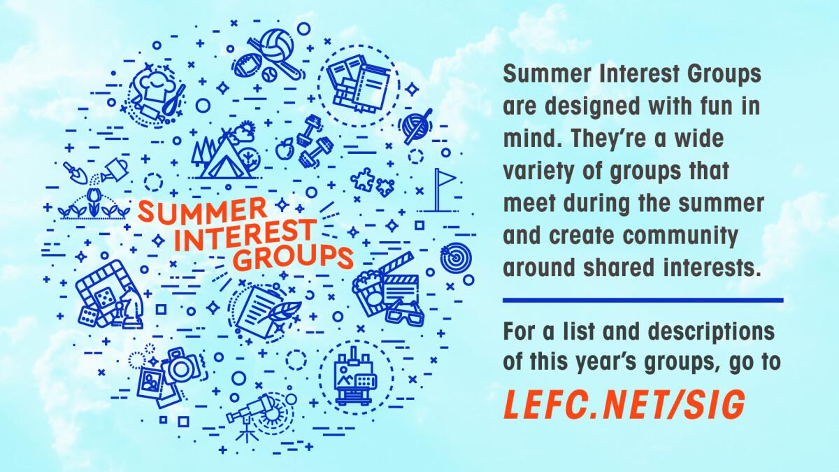 Summer Interest Groups Sign Up